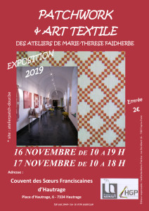 Affiche Expo 2019 Patchwork DEF
